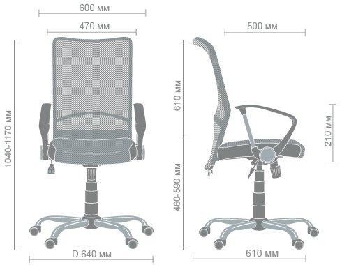 Технические характеристики кресла Аэро HB