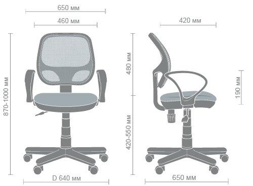 Технические характеристики кресла Чат