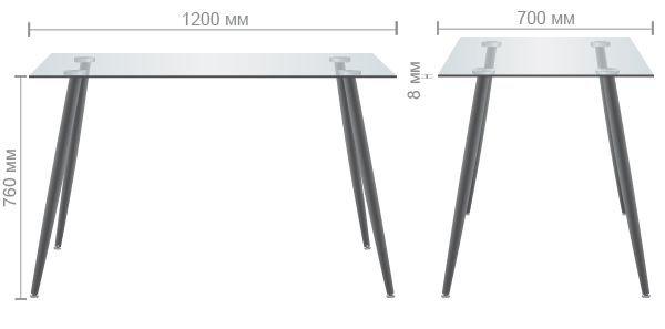 Технические характеристики стола Умберто